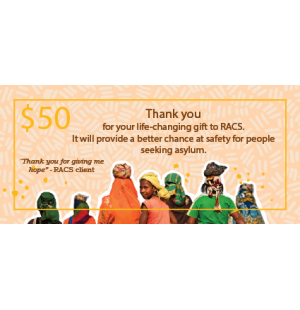 RACS Donation Card